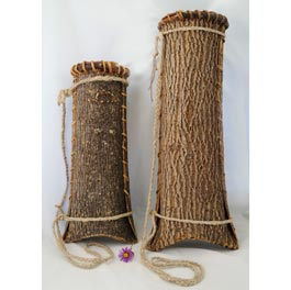 Ash Bark Quivers - Youth Quiver (left) 16x5x5 $65; Adult Quiver (right) 19x6x6 $80